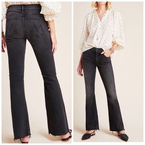 Mother Anthropologie the weekender Fray Jeans